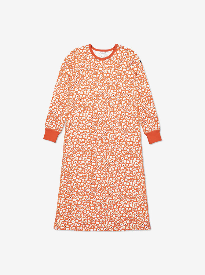 Adult Organic Cotton Orange Flower Nightdress