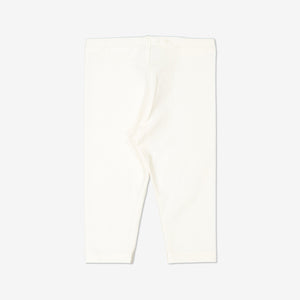 Newborn Baby GOTS Organic White Leggings