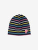 Striped Kids Navy Beanie Hat