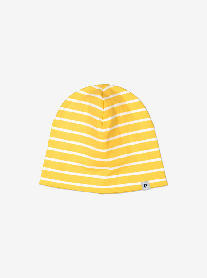 Yellow Organic Cotton Kids Beanie Hat