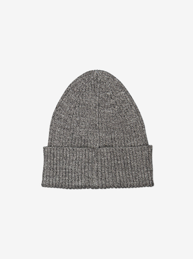 Kids Organic Cotton Grey Beanie Hat