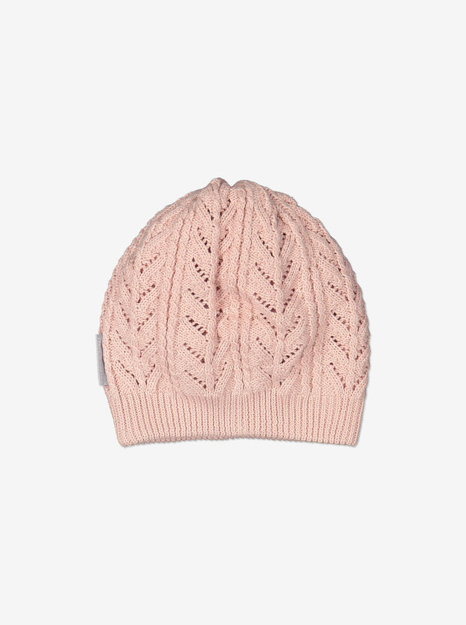 Kids Organic Cotton Purple Beanie Hat