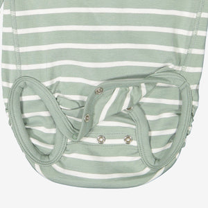 Blue Striped GOTS Organic Babygrow