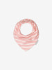 2 Pack Striped Baby Pink Bib