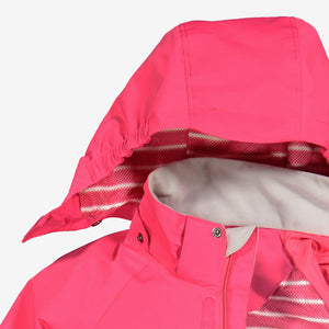 Kids Pink Waterproof Shell Jacket