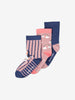 3 Pack Girls Pink Socks