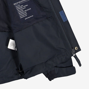 Kids Navy Waterproof Shell Jacket