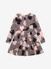 Grey Heart Print Girls Dress