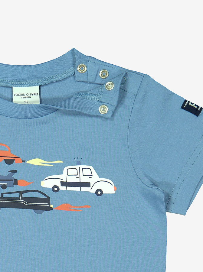 Kids Organic Cotton Blue T-Shirt