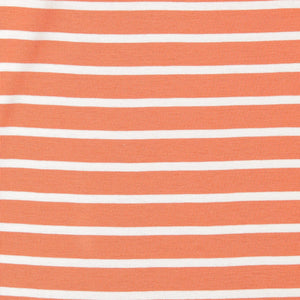 Kids Striped Orange Organic Top