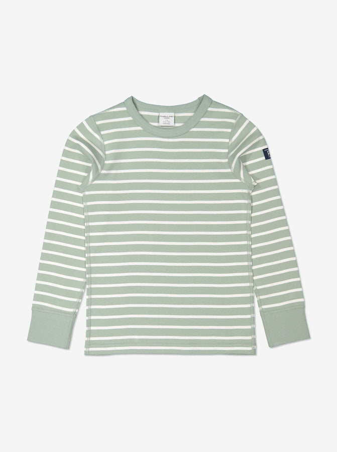 Kids Striped Green Top