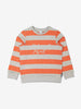 Kids Striped Orange Sweatshirt