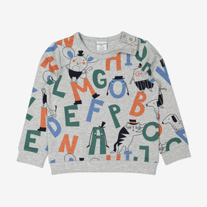 Unisex Kids Alphabet Grey Top