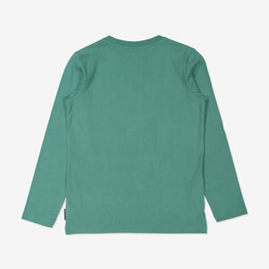 Boys Green Long Sleeved Skateboarding Top