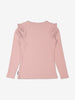 Girls Pink Ribbed Organic Cotton Top