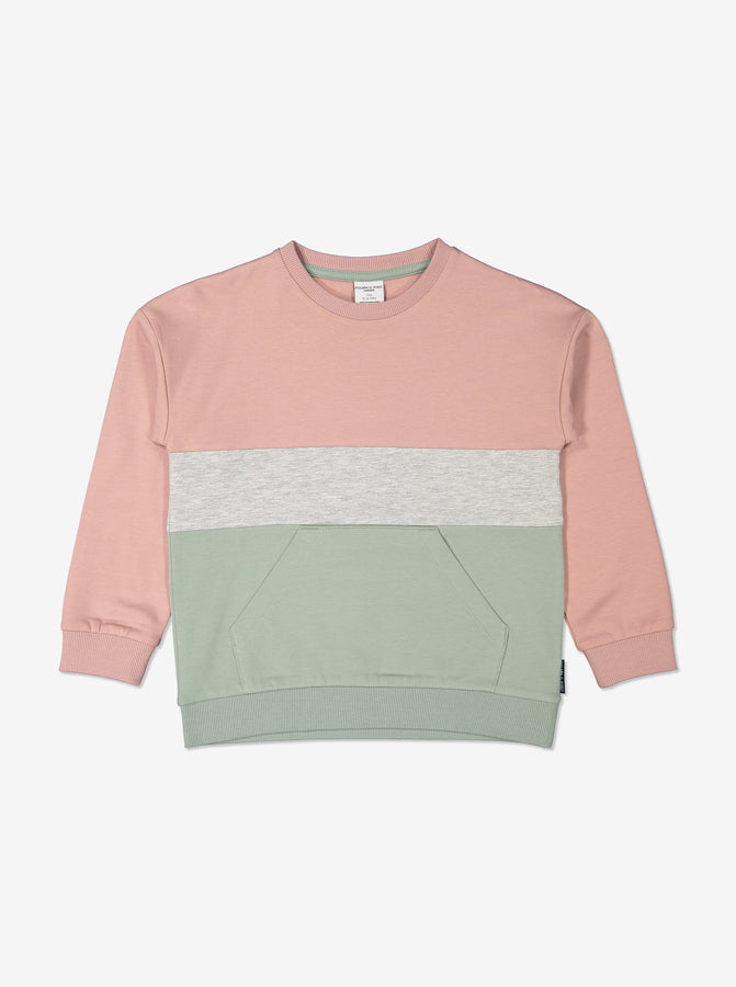 Kids Green Block Colour Sweatshirt