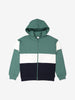 Boys Green Organic Cotton Hodded Jacket