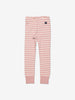 Kids Pink Striped Organic Leggings