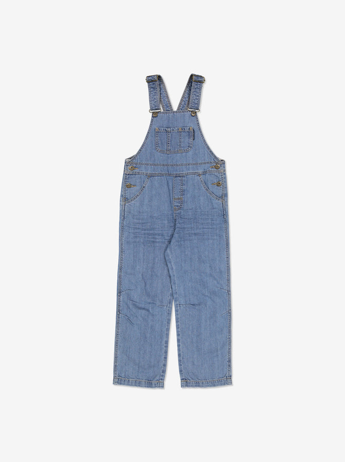 Unisex Kids Blue Denim Dungarees
