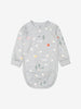 Boy Grey Organic Cotton Baby Bodysuit