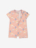 Girl Purple GOTS Organic Bird Print Onesie Pyjamas