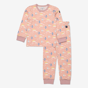 Girl Purple GOTS Organic Bird Print Pyjamas