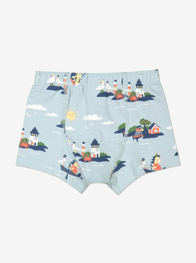 Boy Blue Nordic Print Boys Boxer Shorts