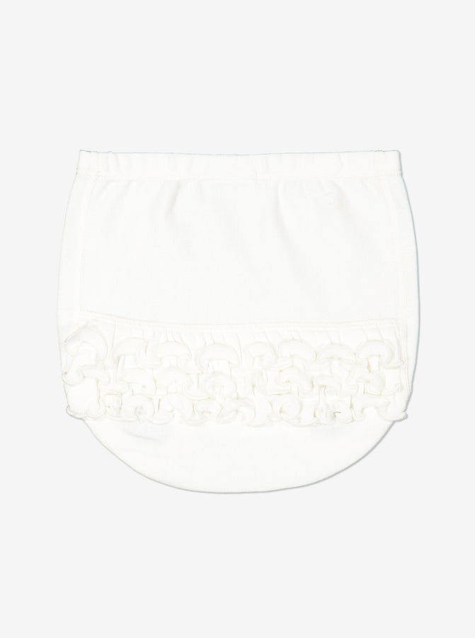 Boy White Baby Frill Briefs