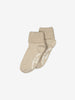 Unisex Brown 2 Pack Kids Anti-Slip Socks