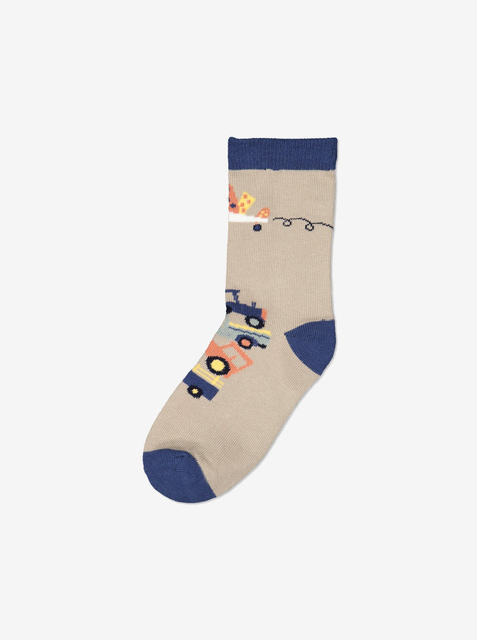 Boy Blue 3 Pack Kids Socks