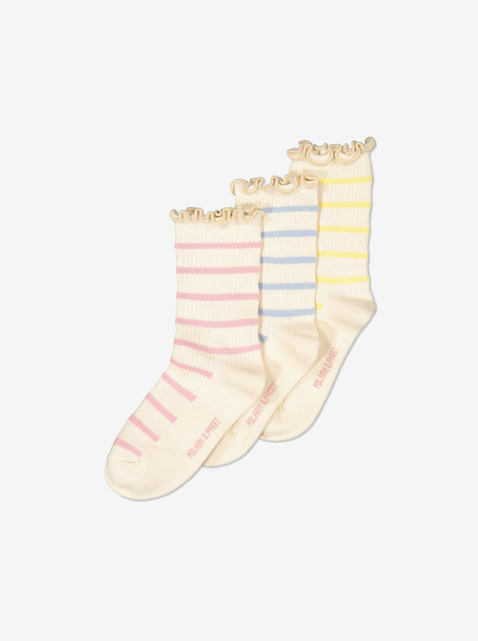 Girl Pink 3 Pack Kids Socks