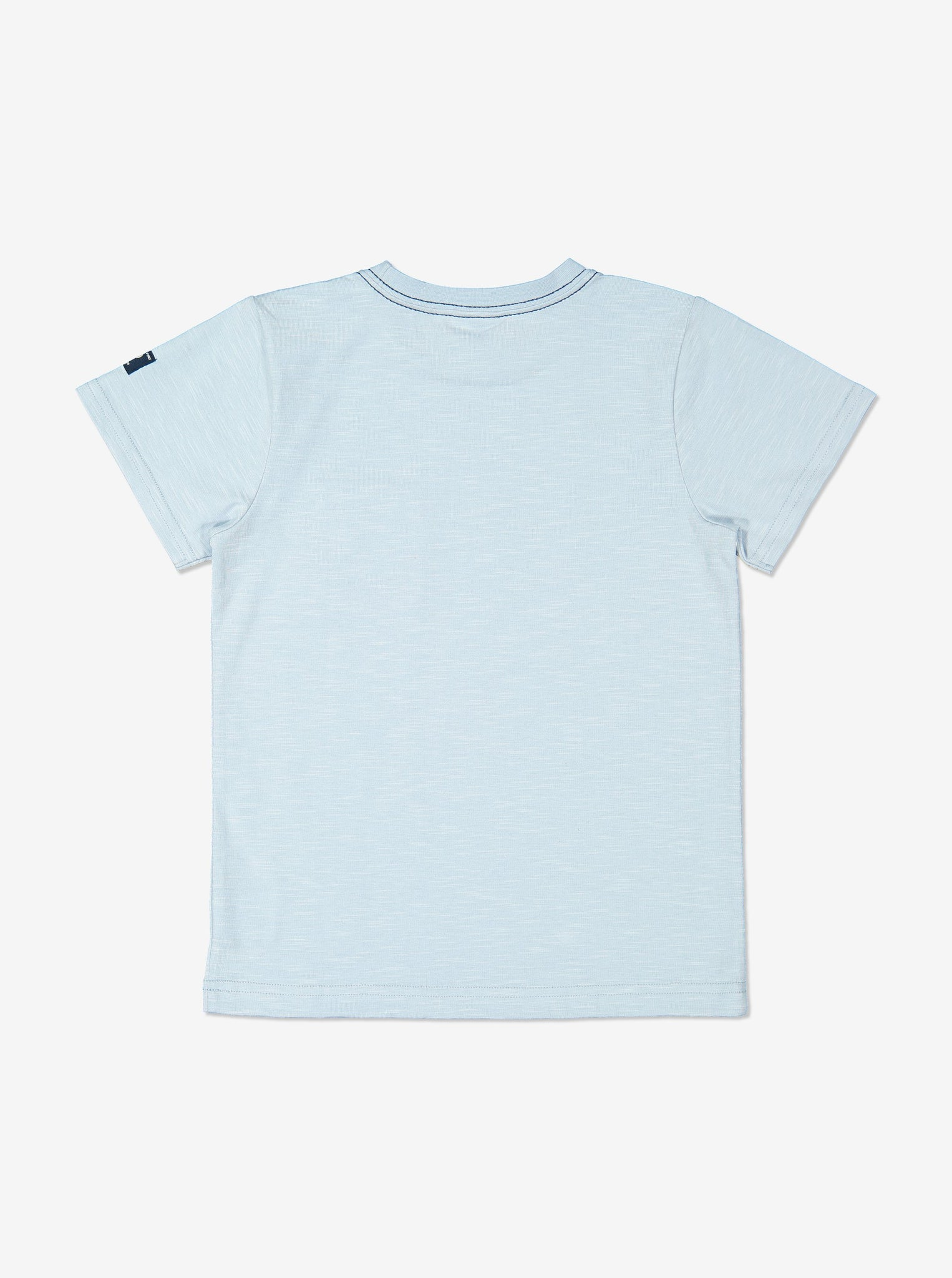 Boy Blue Plain GOTS Organic Kids T-Shirt