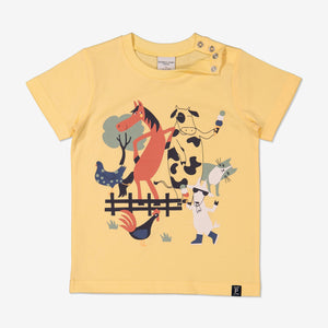 Unisex Yellow Kids Organic T-Shirt