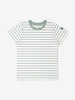 Unisex Green Kids Organic Striped T-Shirt