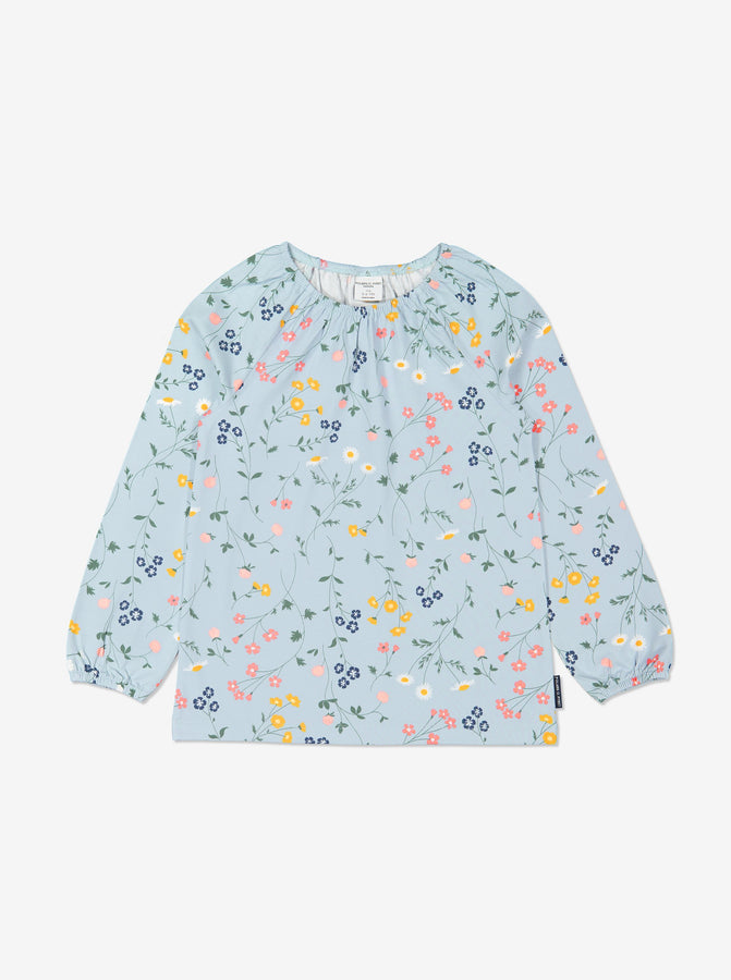 Girl Blue Kids Floral Top