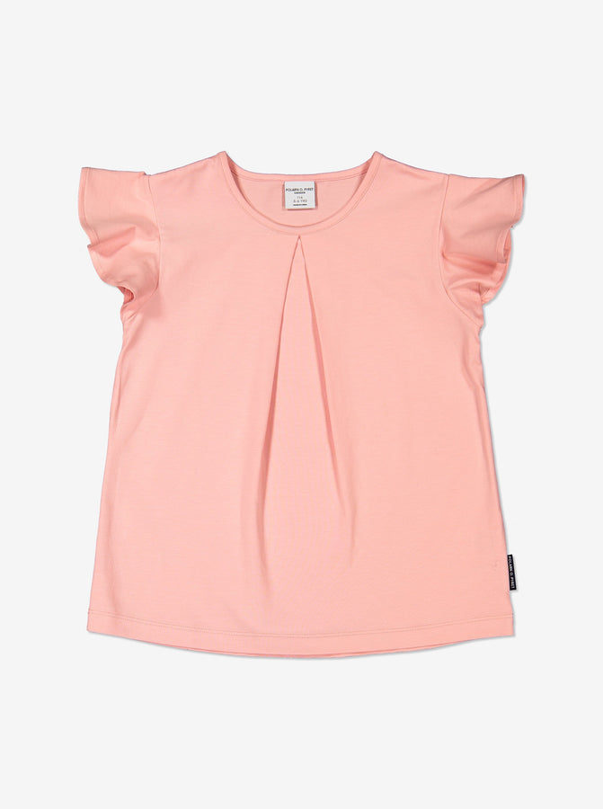 Girl Pink Kids Ruffle Sleeved T-Shirt