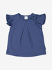 Girl Blue Kids Ruffle Sleeved T-Shirt