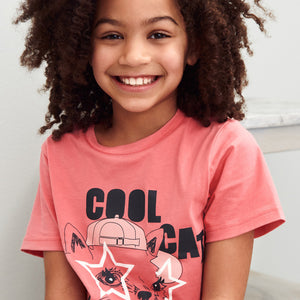 Cat Print Kids T-Shirt