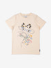 Girl White GOTS Organic Cow Print T-Shirt