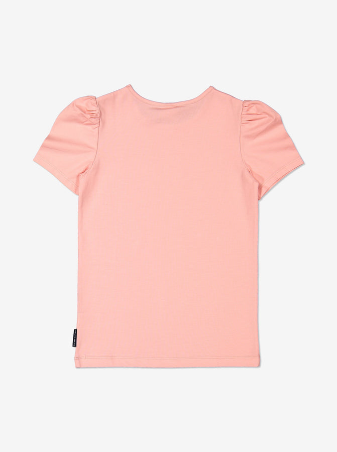Girl Pink Kids Puff Sleeve Top