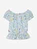 Girl Blue Kids Floral Singoalla Top