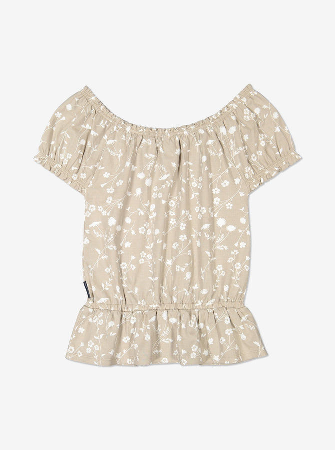 Girl White Kids Floral Singoalla Top