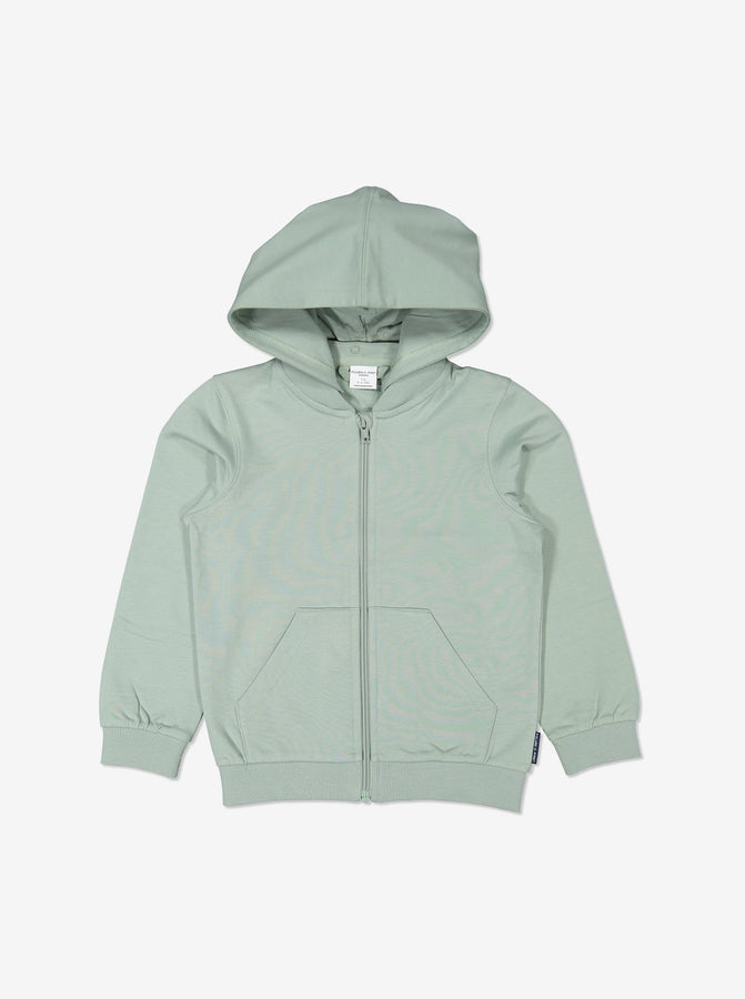 Unisex Green GOTS Organic Kids Hooded Jacket