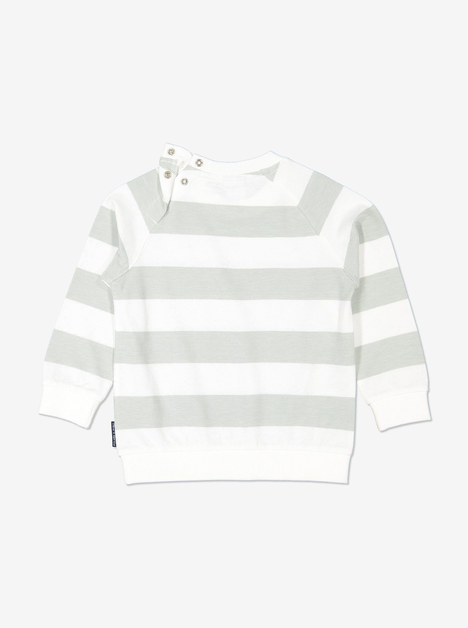 Boy Green Block Striped Kids Long Sleeved Top
