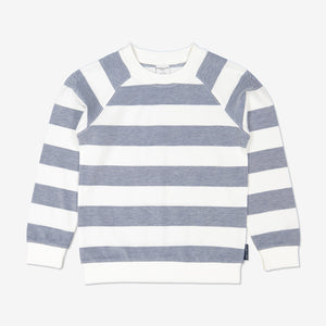 Boy Blue Block Striped Kids Long Sleeved Top