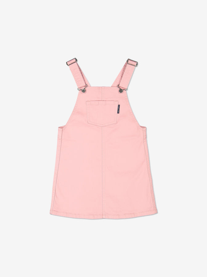 Girls Pink Kids Organic Cotton Dungaree Dress