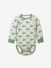 Rabbit Print Organic Cotton Baby Newborn Babygrow 0-1years Blue Unisex