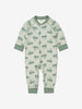 Rabbit Print Organic Cotton Baby All-In-One 0-1years Blue Unisex