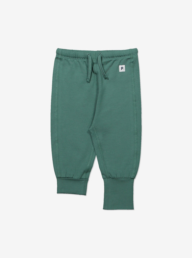 Kids Cotton Trousers 0-1years Green Unisex