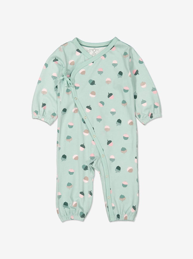Acorn Print Baby All-In-One 0-1years Blue Girl